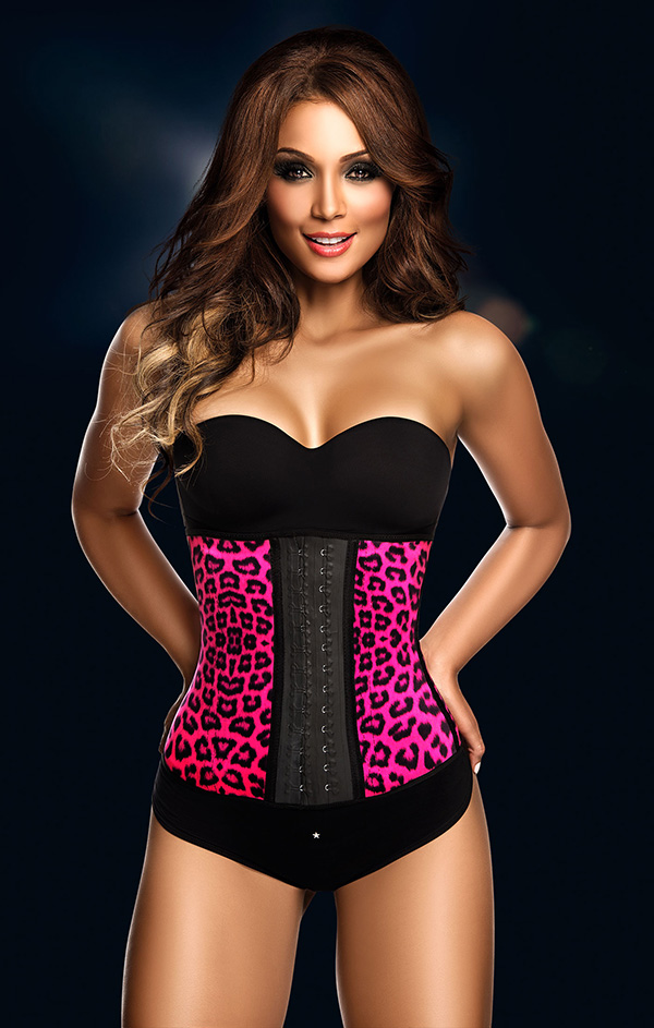 53977ccc75 Animal-Print-Leopard-Latex-Waist-Trainer-Body-Shaper on